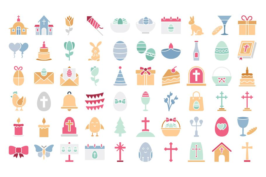 900 Easter Celebration Isolated Vector set Screenshot 9