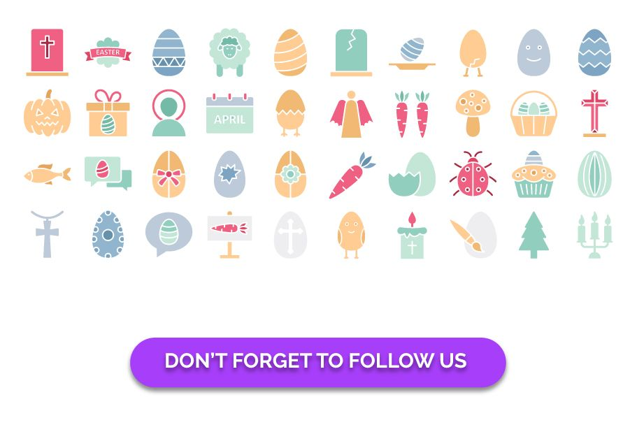 900 Easter Celebration Isolated Vector set Screenshot 10