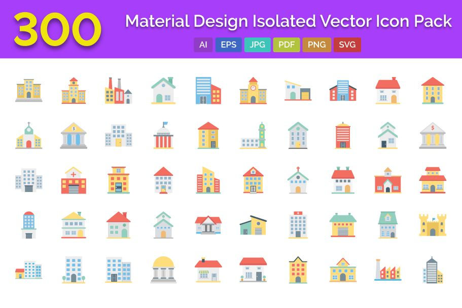 300 Building Vector Icons Pack  Screenshot 1
