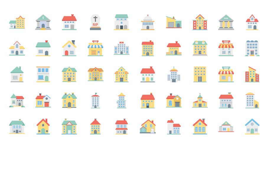 300 Building Vector Icons Pack  Screenshot 2
