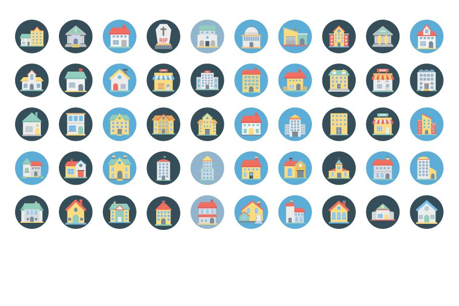 300 Building Vector Icons Pack  Screenshot 4