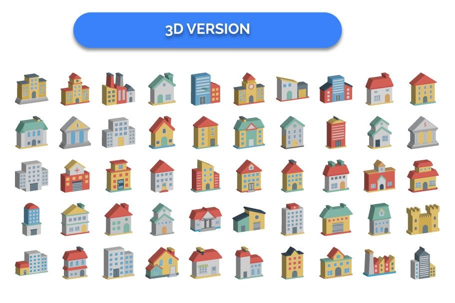 300 Building Vector Icons Pack  Screenshot 5