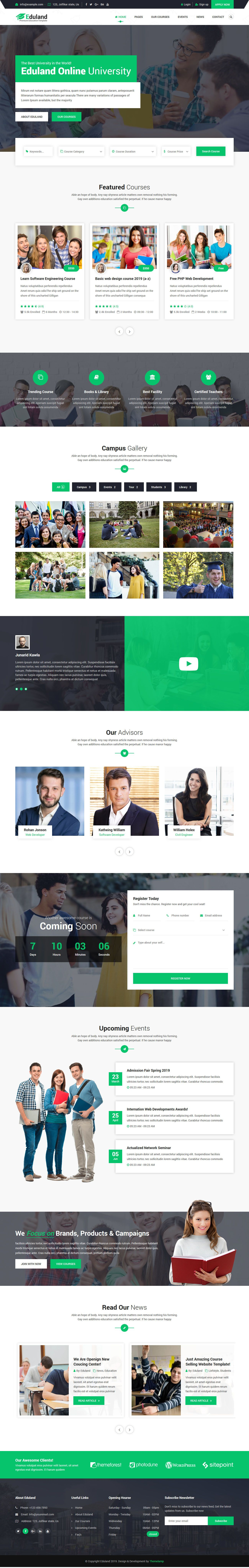 Eduland - Education And Courses HTML5 Template Screenshot 1