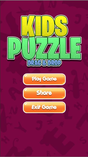 Kids Puzzle Drag And Drop - Unity Project Screenshot 1