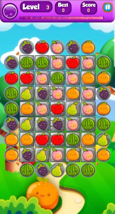 Farm Fruit 3 Match Game Template Unity Screenshot 4