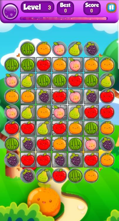 Farm Fruit 3 Match Game Template Unity Screenshot 6