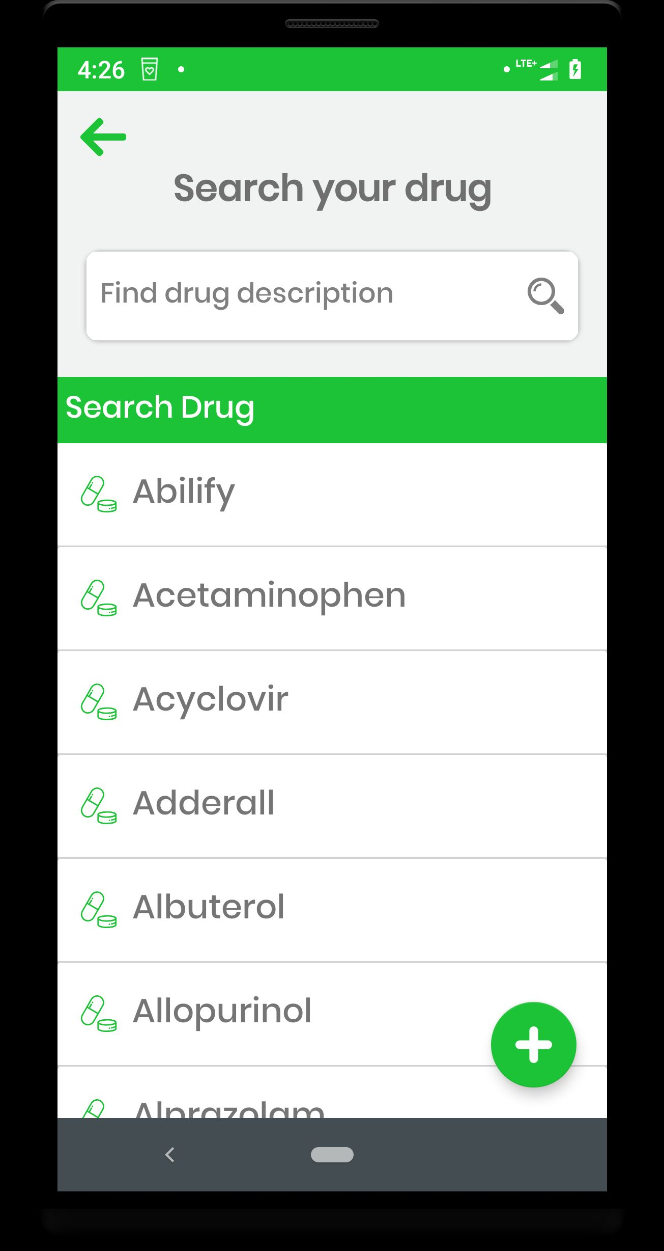Drugs And Diseases Dictionary Android App Screenshot 2