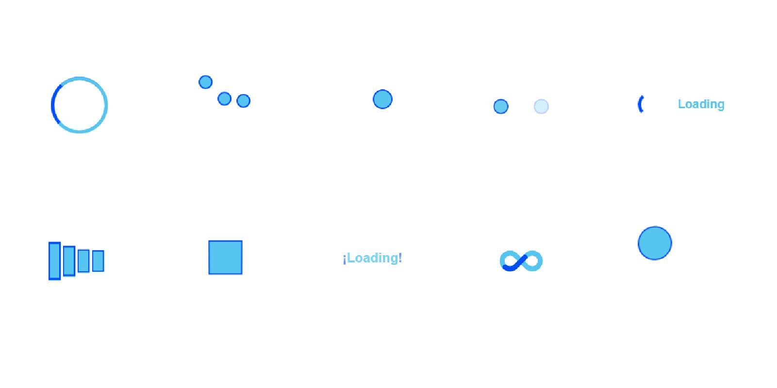 10 Loaders Fun Animation CSS Screenshot 1