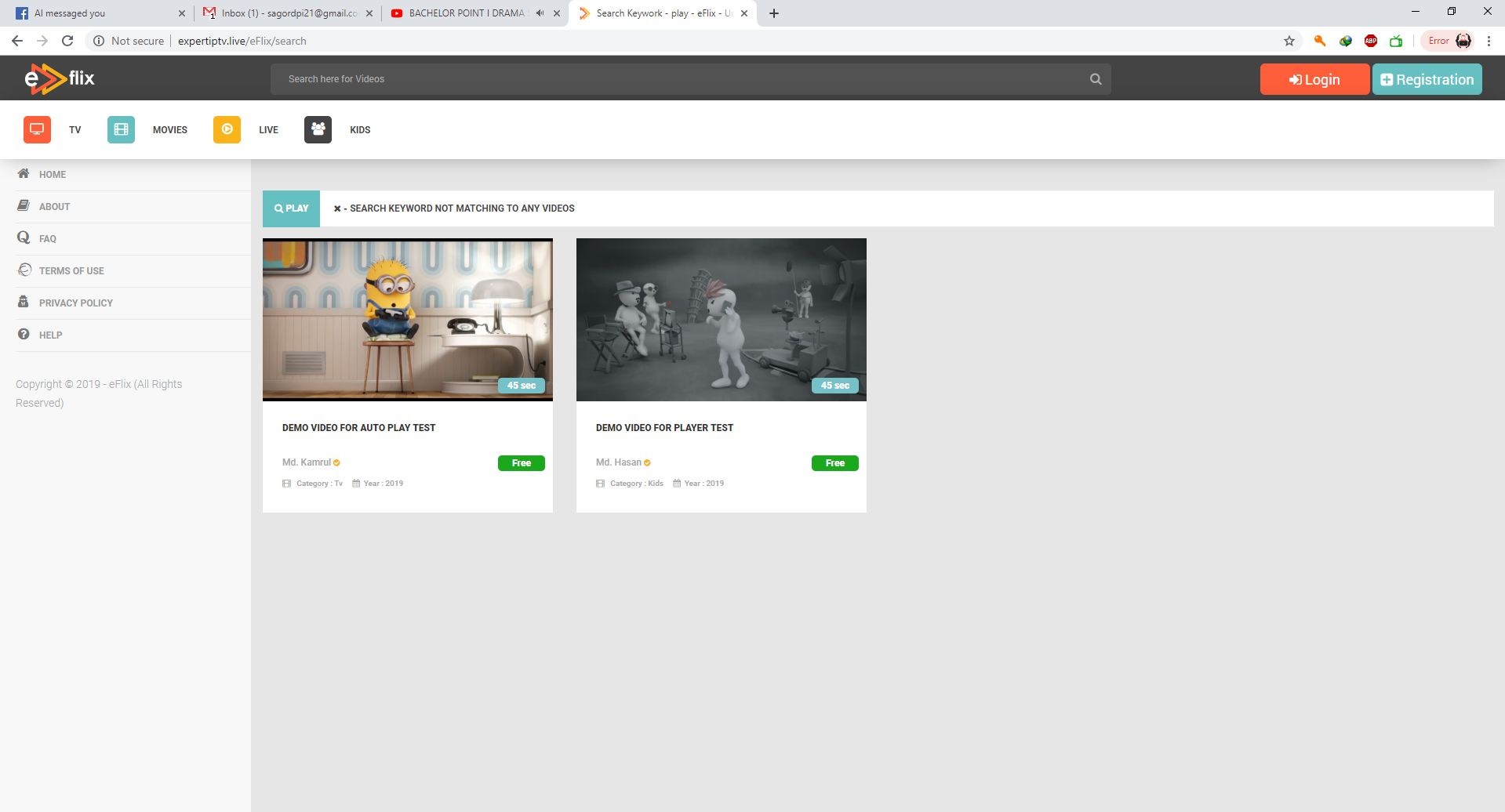 eFlix CMS - Live Video Watch Online PHP Script Screenshot 44