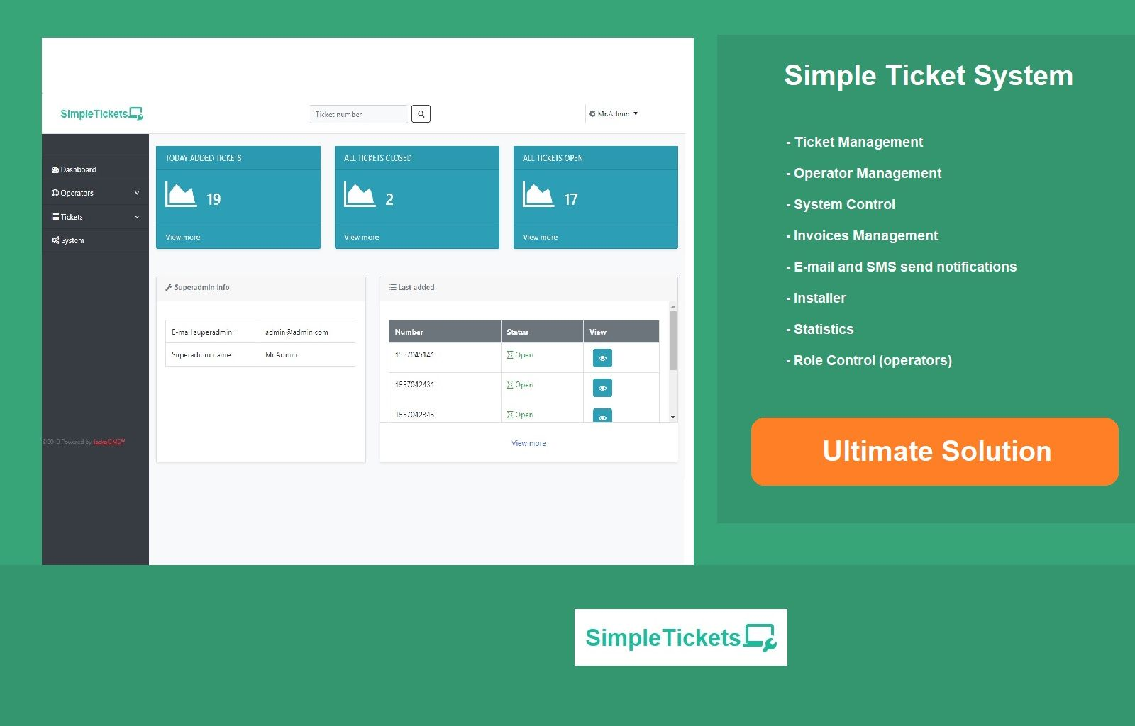 Support Ticket System PHP Screenshot 7