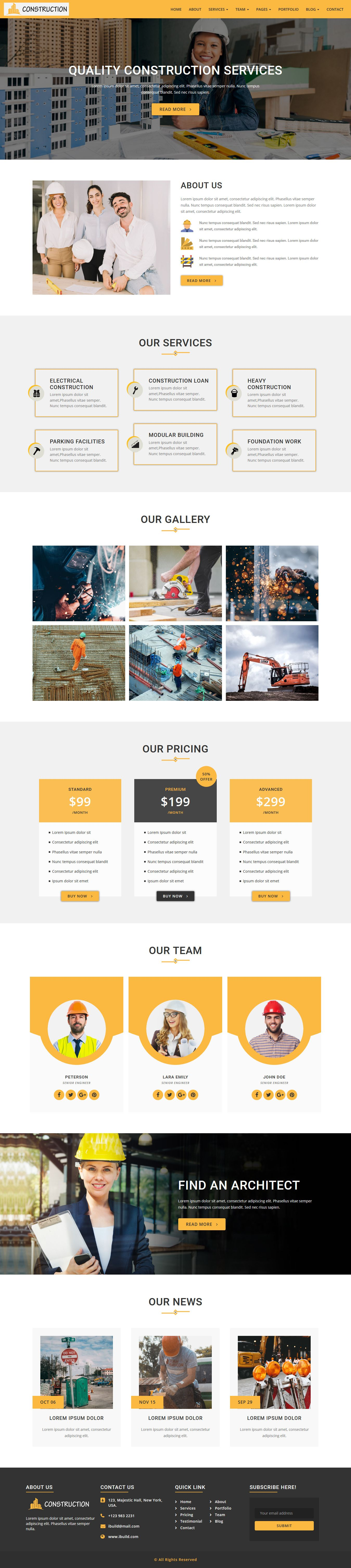 iConstruction - WordPress Theme Screenshot 1