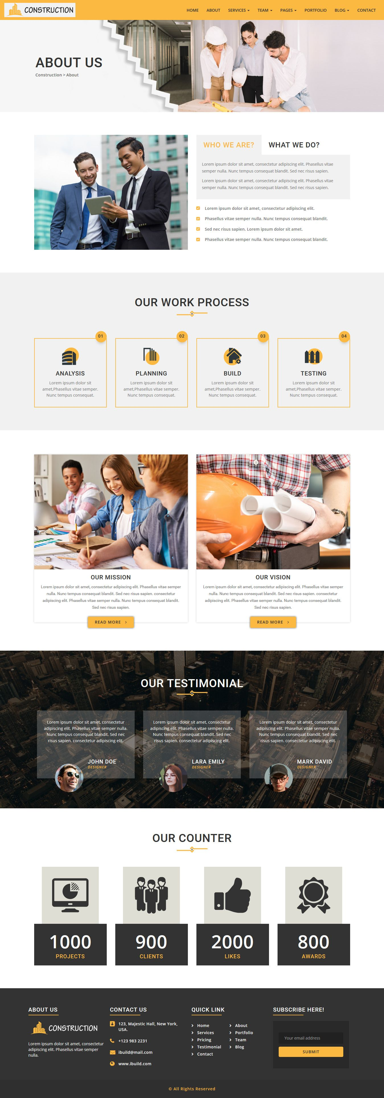 iConstruction - WordPress Theme Screenshot 2