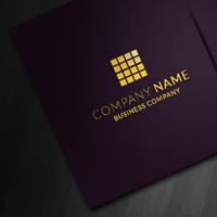 Purple Corporate Business Card