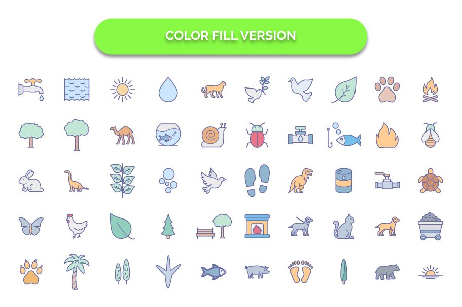 250 Nature & Wildlife Vector Icons Screenshot 2