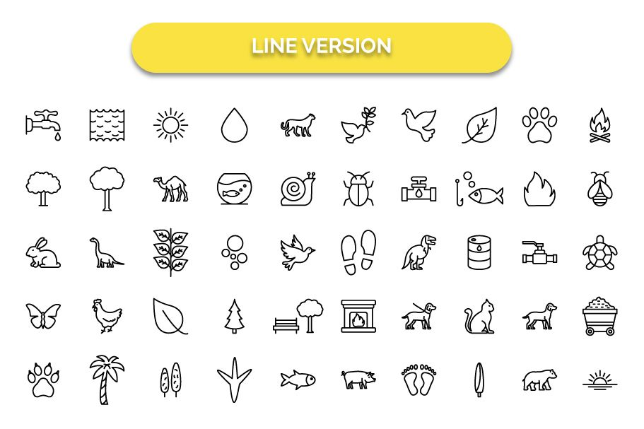 250 Nature & Wildlife Vector Icons Screenshot 5