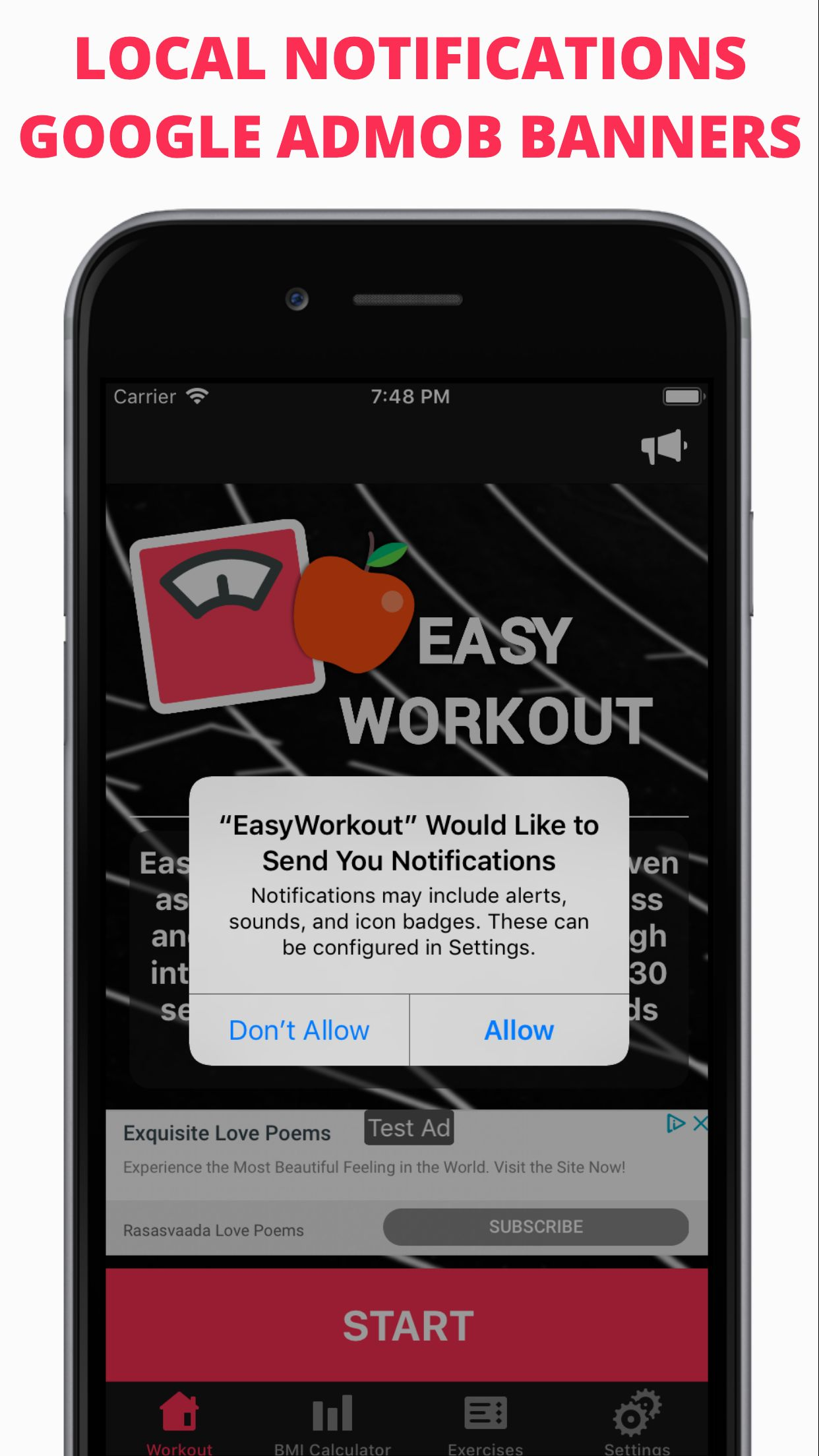 Easy Workout - iOS Fitness Application  Screenshot 4
