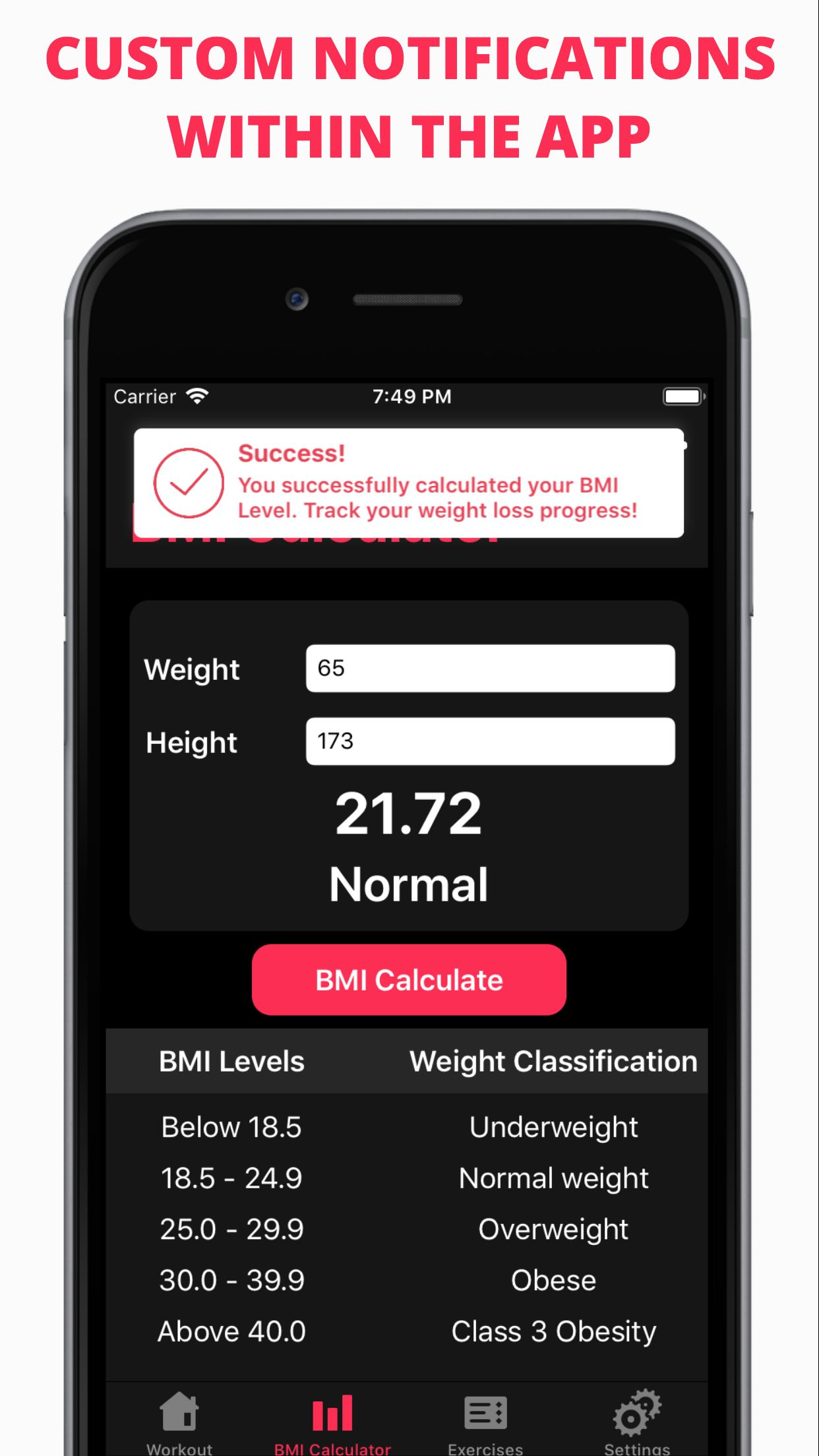 Easy Workout - iOS Fitness Application  Screenshot 6