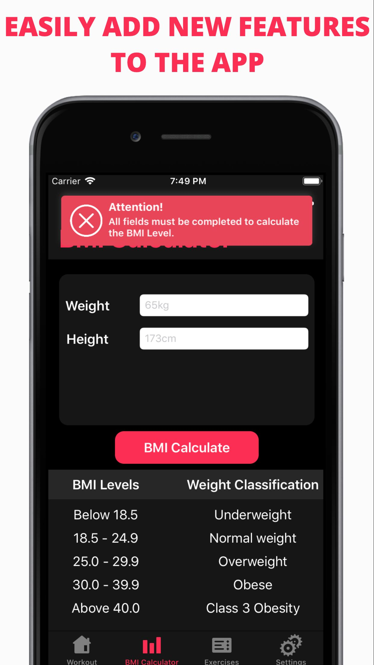 Easy Workout - iOS Fitness Application  Screenshot 7