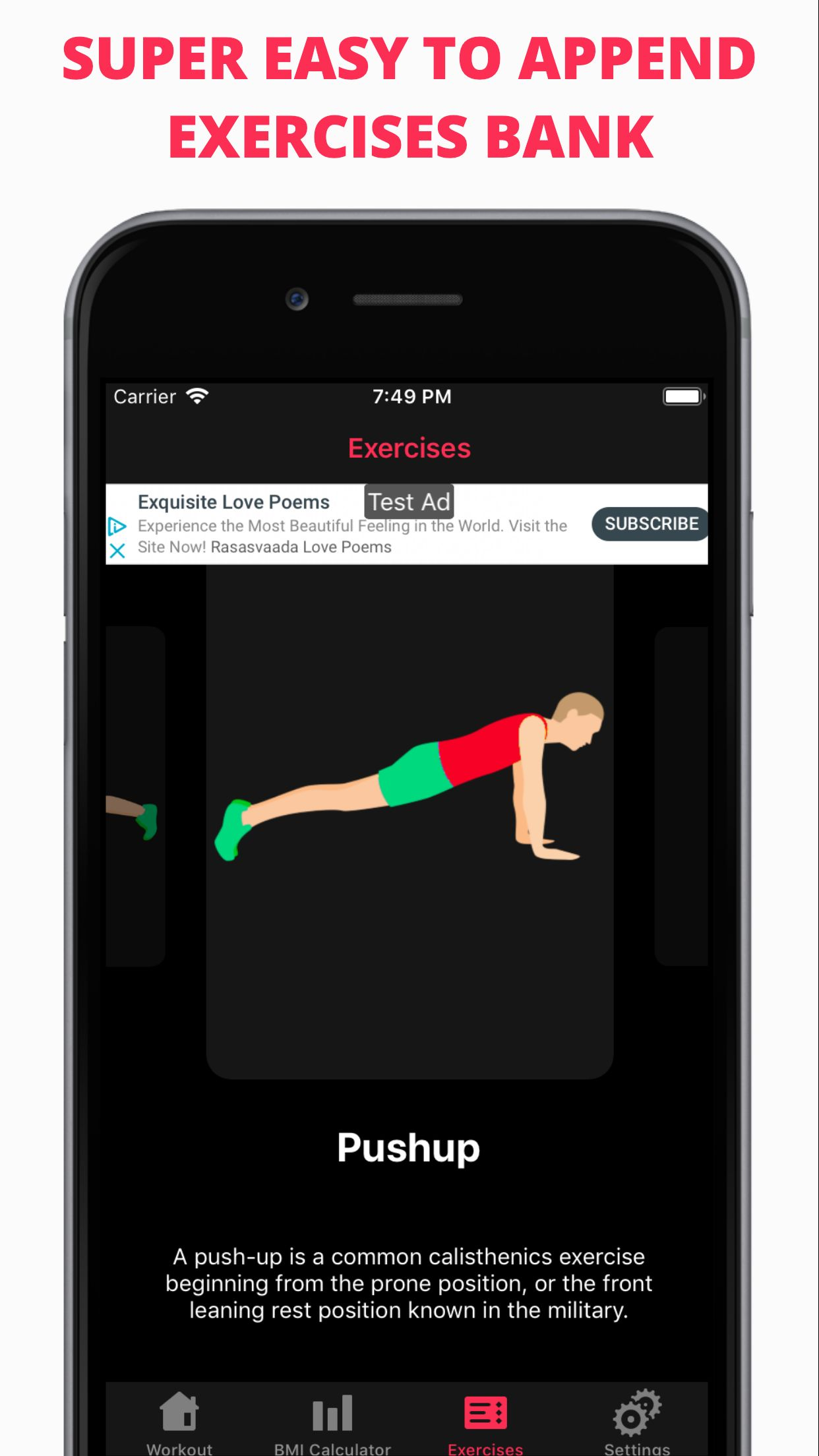 Easy Workout - iOS Fitness Application  Screenshot 8