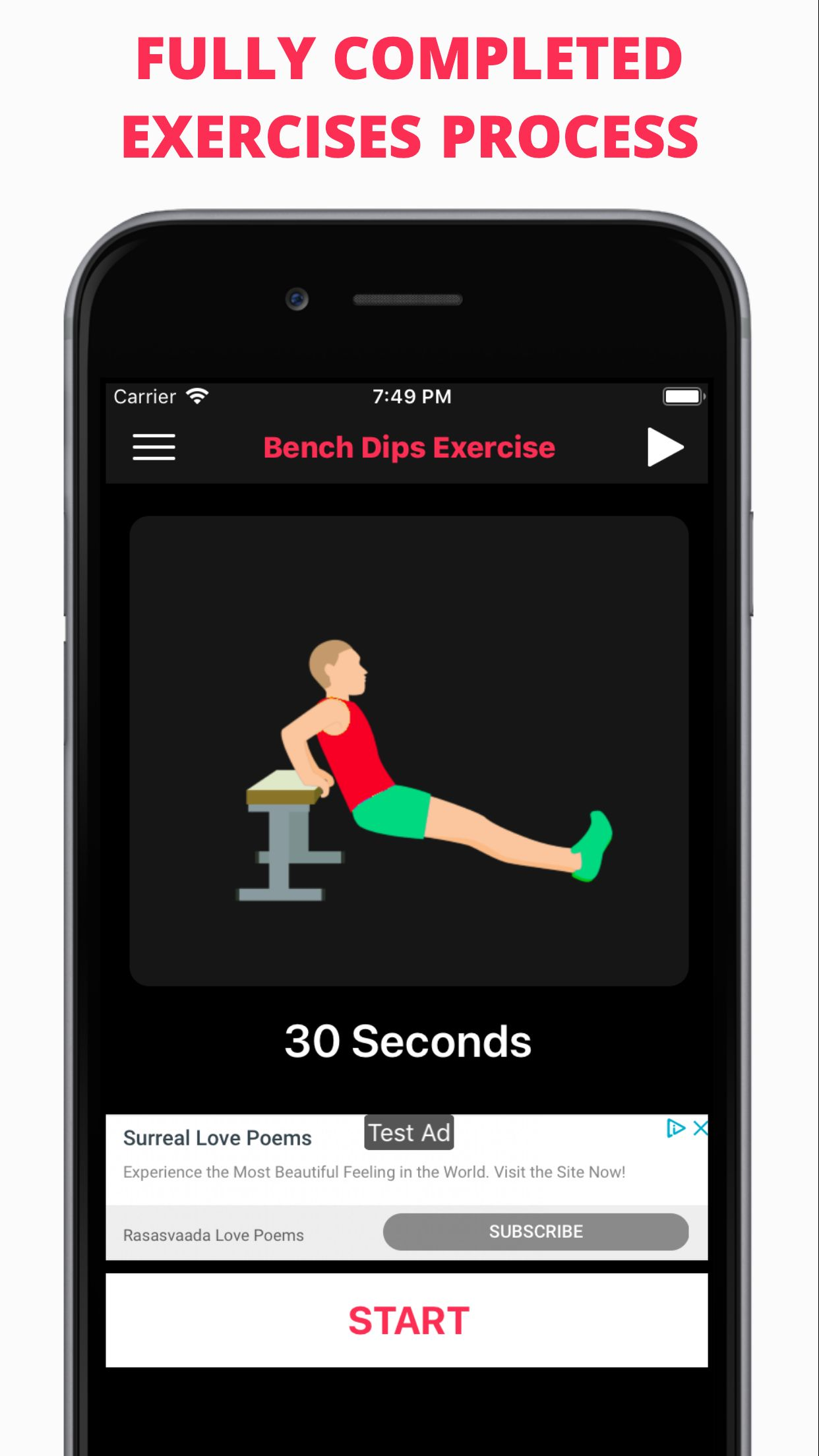 Easy Workout - iOS Fitness Application  Screenshot 9