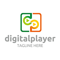 Digital Player - Logo Template