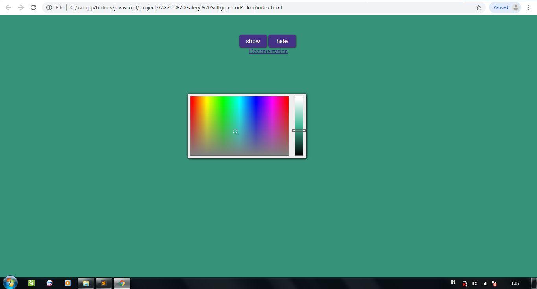 JC Color Picker Javascript
