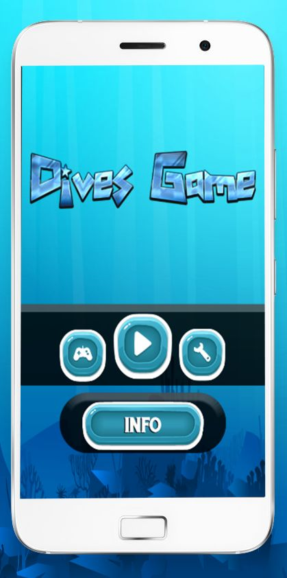 Dives Game With Admob - Buildbox Template Screenshot 1