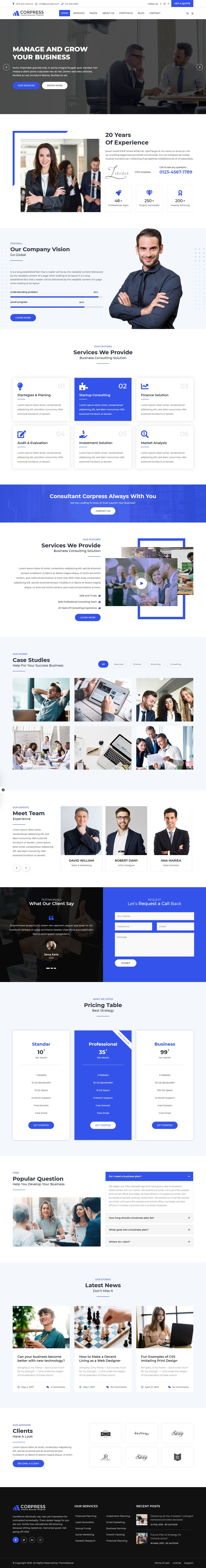 Corpress - Business and Corporate HTML5 Template Screenshot 1