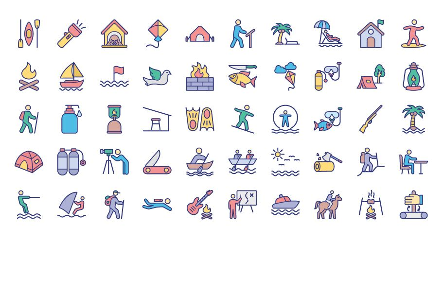 500 Outing and Journey Vector Icons Pack Screenshot 3