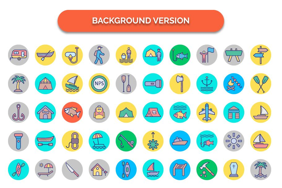 500 Outing and Journey Vector Icons Pack Screenshot 4