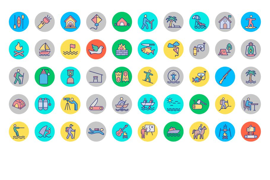 500 Outing and Journey Vector Icons Pack Screenshot 5
