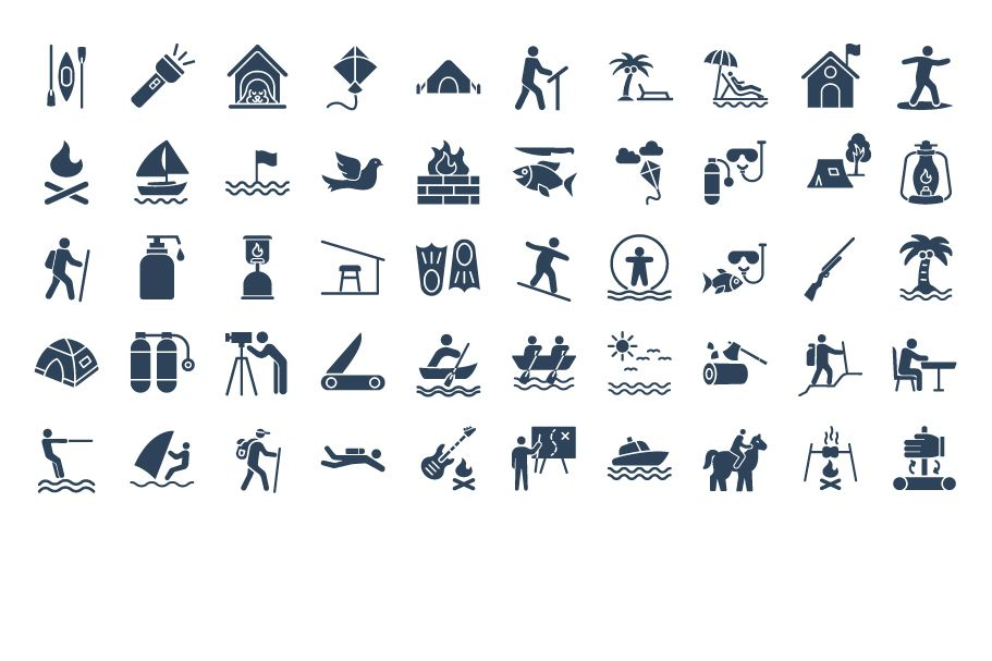 500 Outing and Journey Vector Icons Pack Screenshot 7