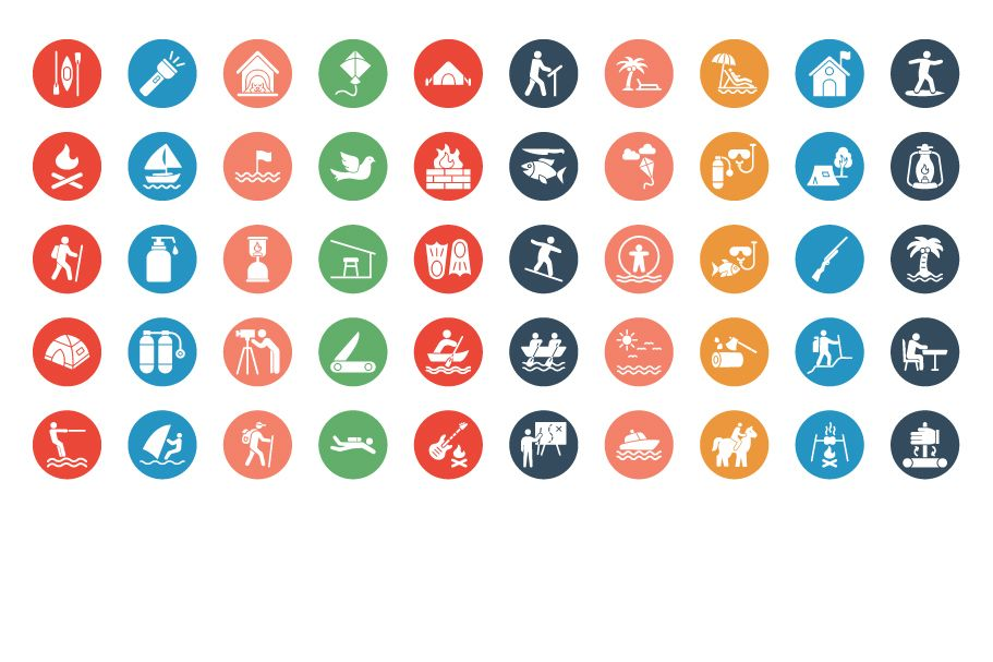 500 Outing and Journey Vector Icons Pack Screenshot 9