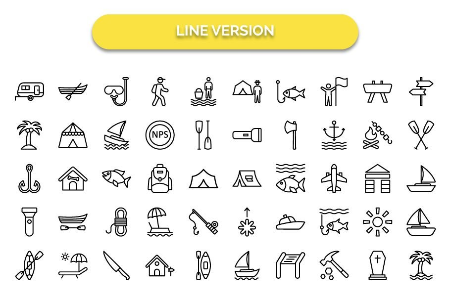 500 Outing and Journey Vector Icons Pack Screenshot 10