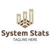 system-stats-logo-template