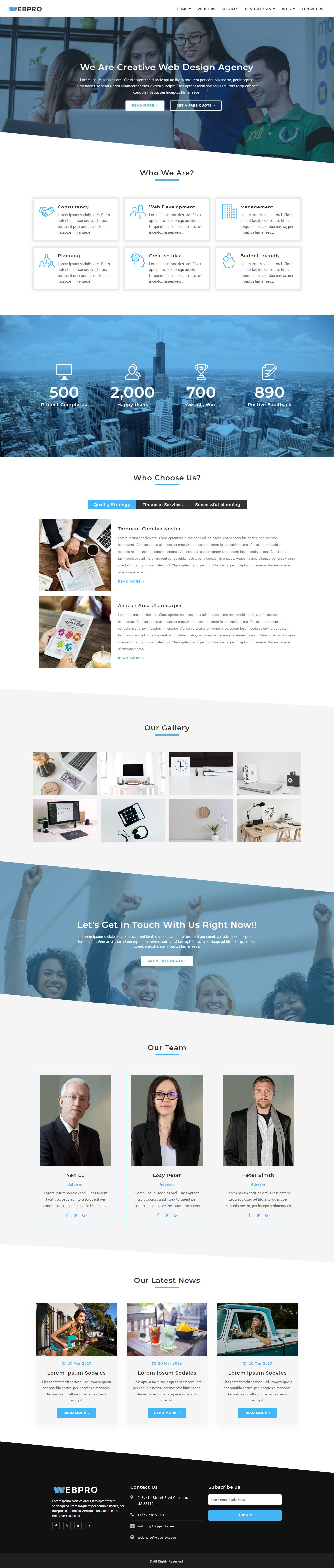 WebPro - Corporate WordPress Theme using Elementor Screenshot 1