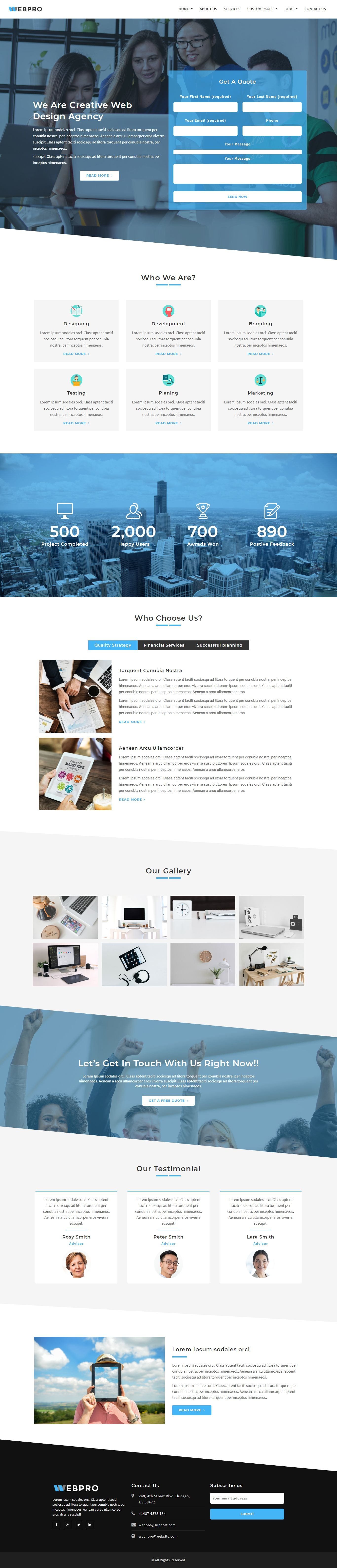 WebPro - Corporate WordPress Theme using Elementor Screenshot 2