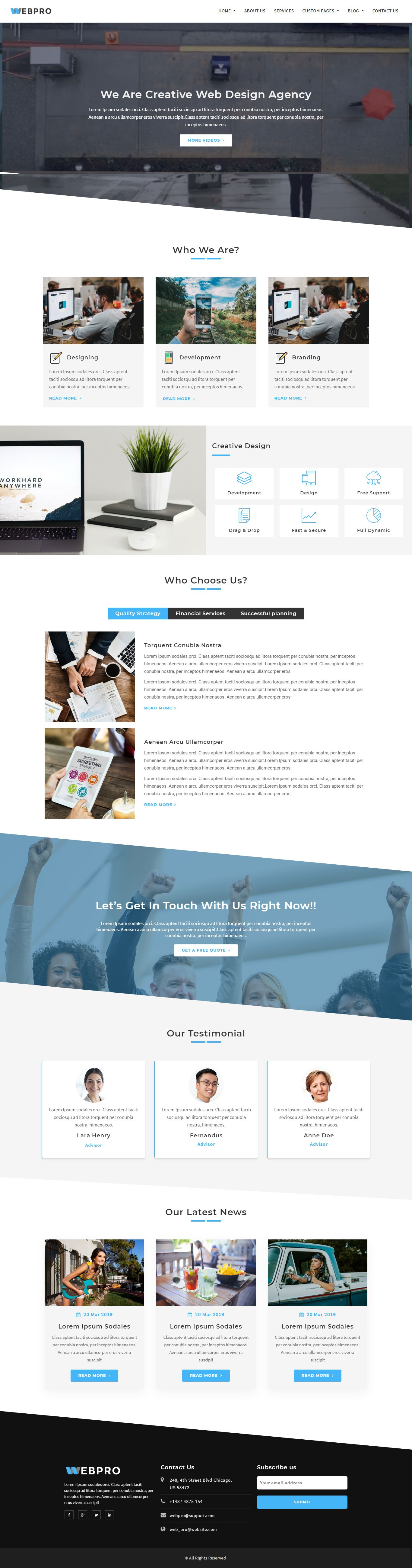 WebPro - Corporate WordPress Theme using Elementor Screenshot 3