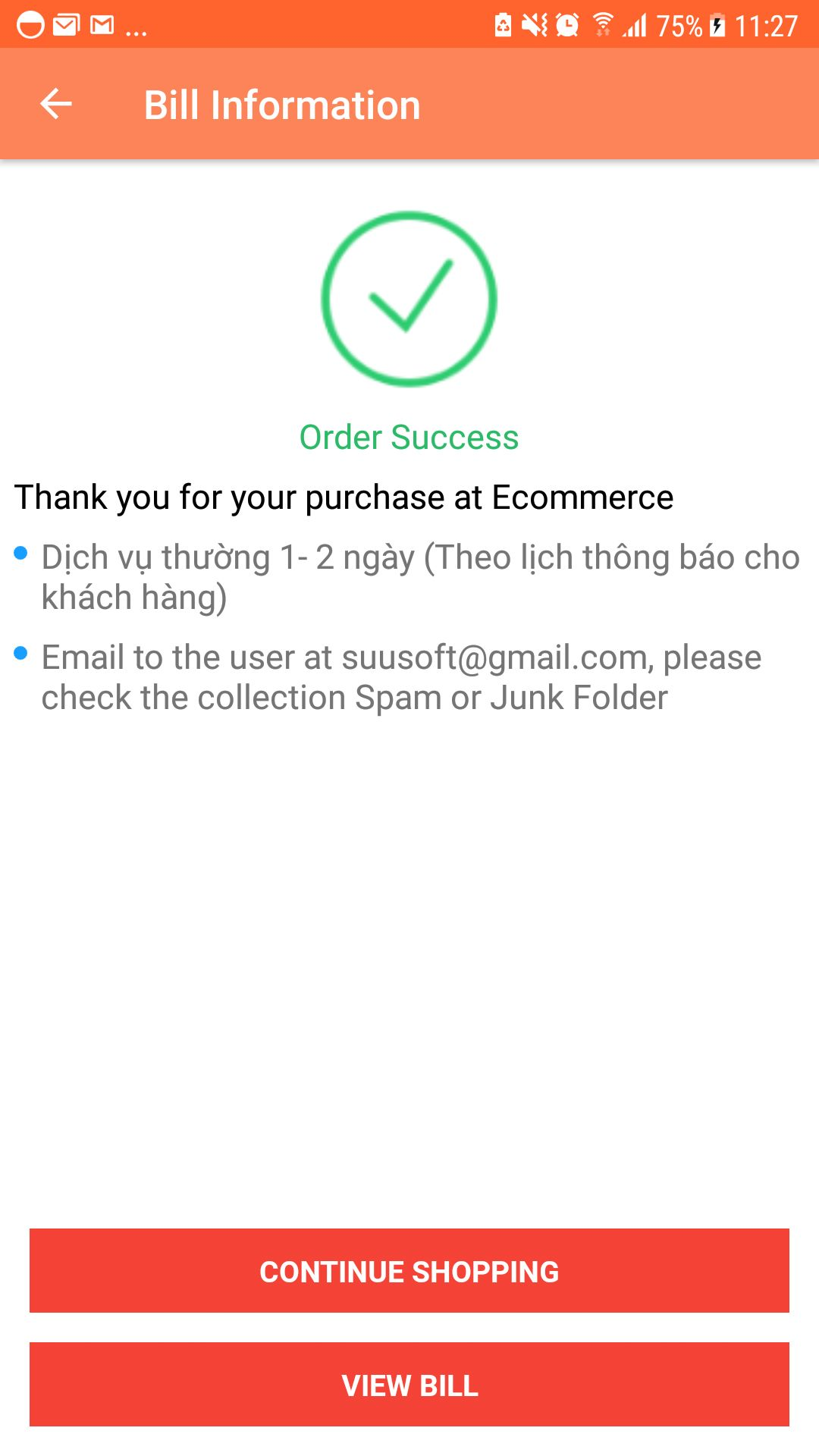 Shopping App - Android Source Code Screenshot 16