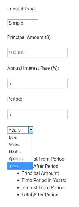 Interest Calculator For WordPress Screenshot 2