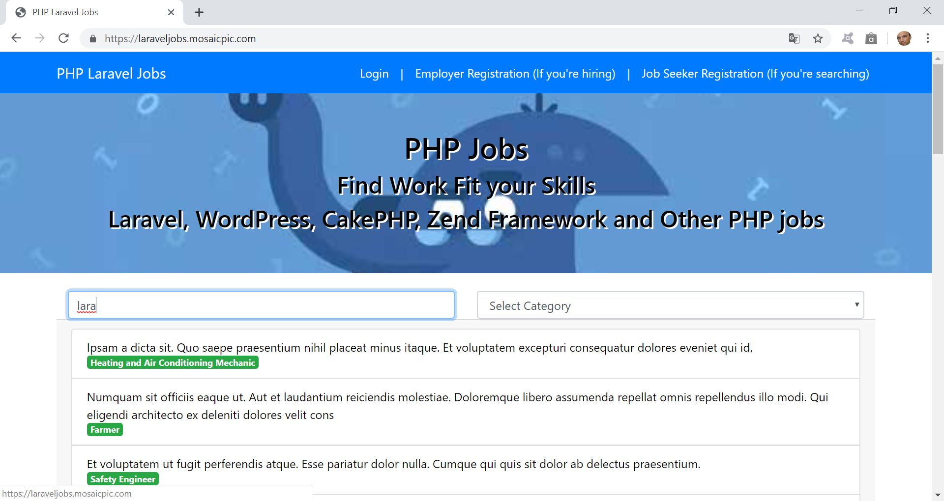 PHP Jobs Site  - Laravel And VueJs Screenshot 3