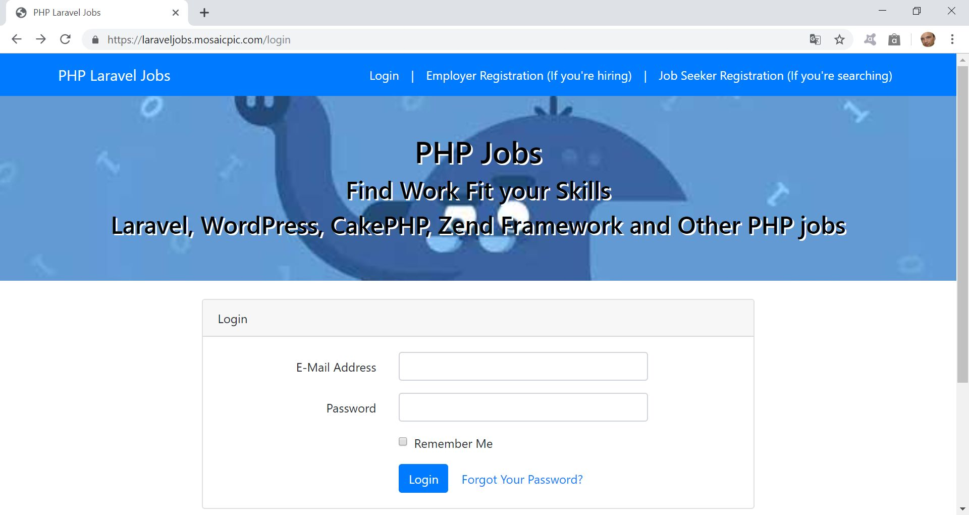 PHP Jobs Site  - Laravel And VueJs Screenshot 5