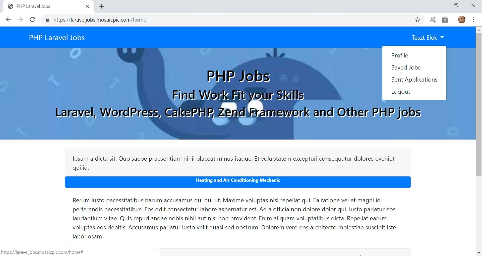 PHP Jobs Site  - Laravel And VueJs Screenshot 7