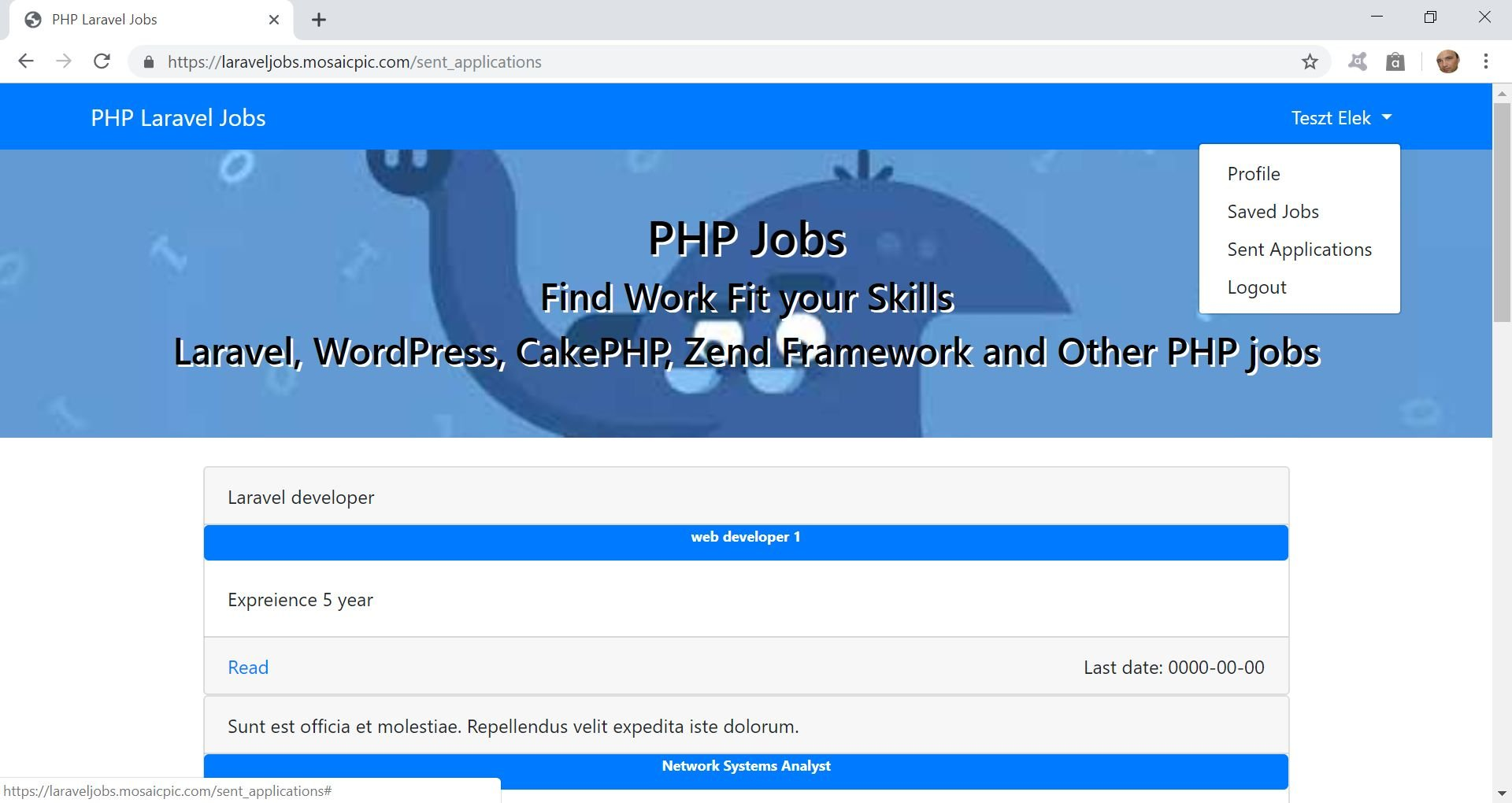 PHP Jobs Site  - Laravel And VueJs Screenshot 8