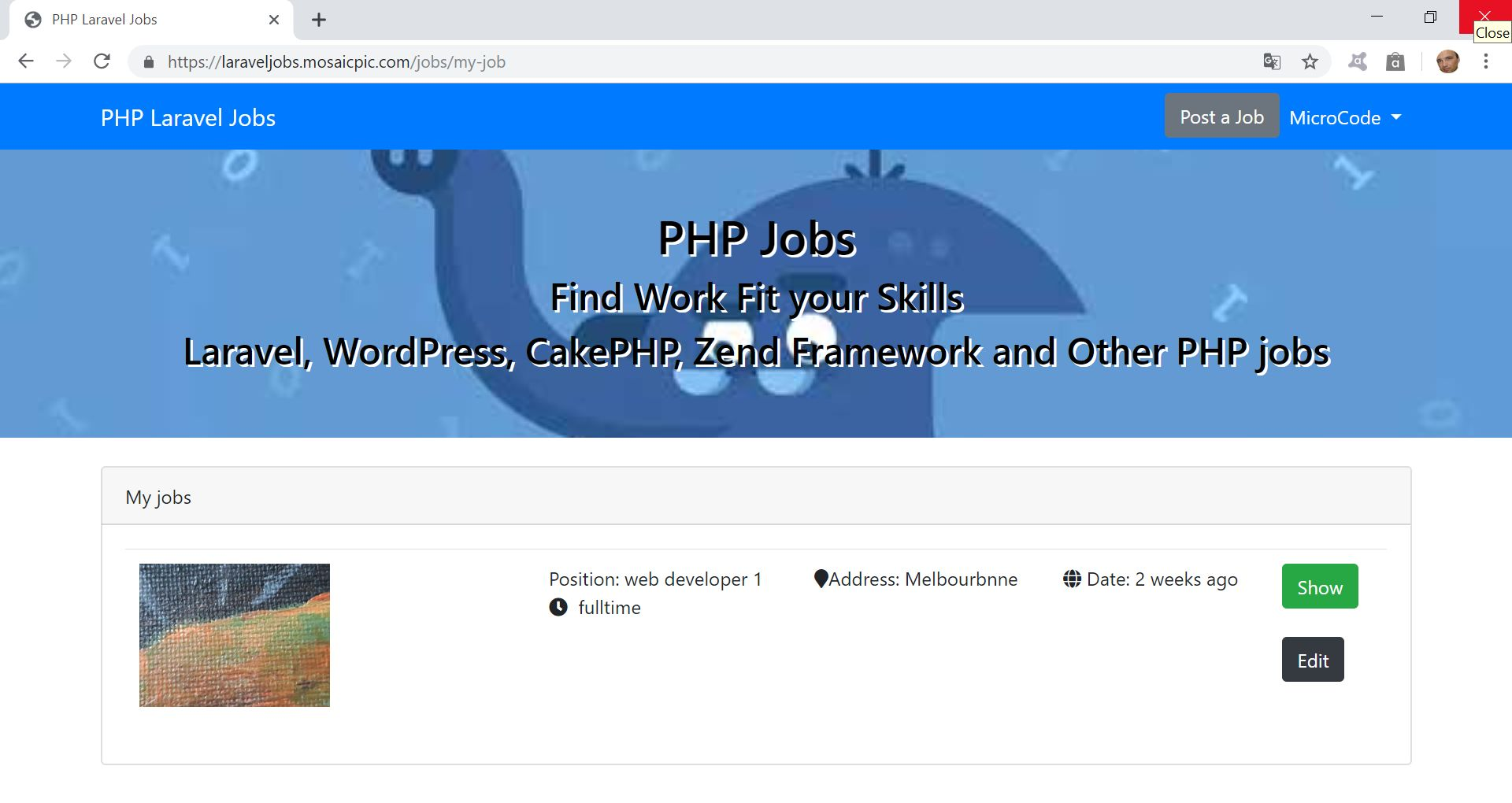 PHP Jobs Site  - Laravel And VueJs Screenshot 10