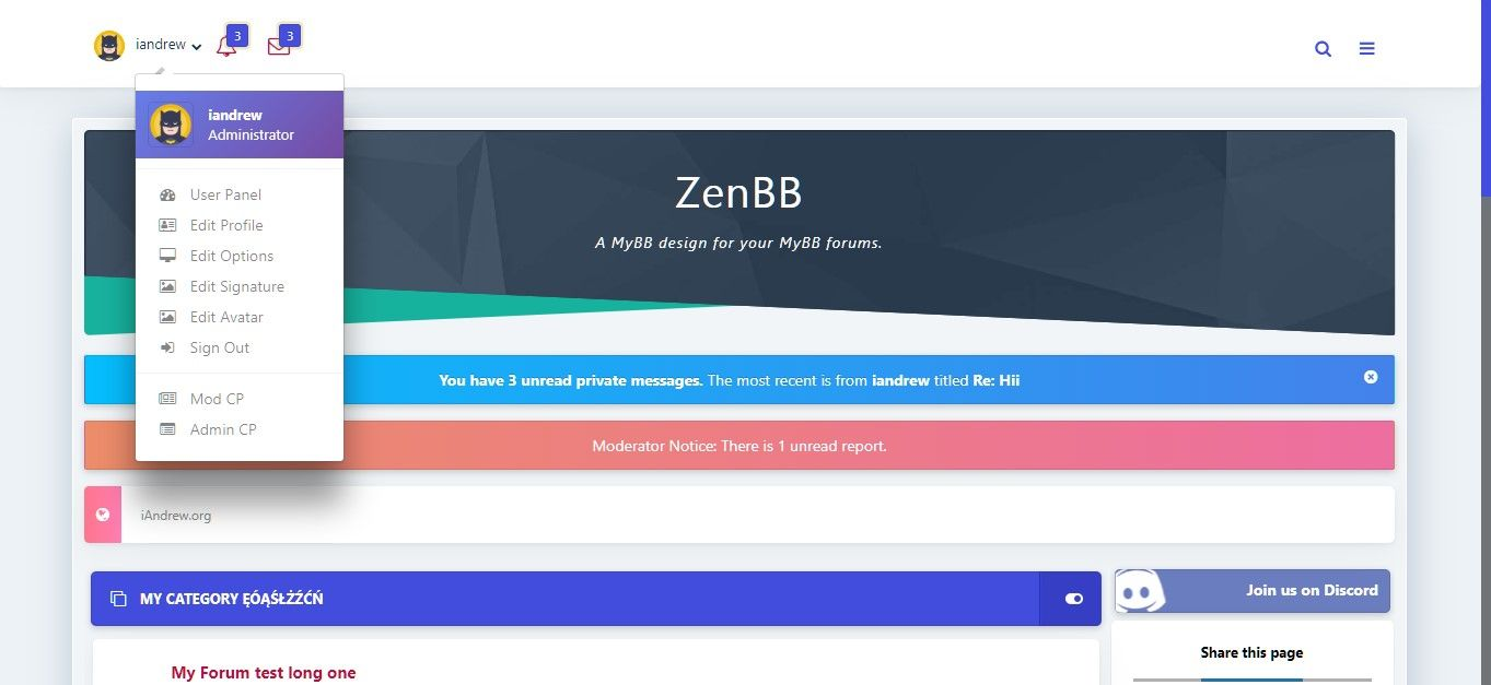 Zen - Responsive MyBB Theme Screenshot 2