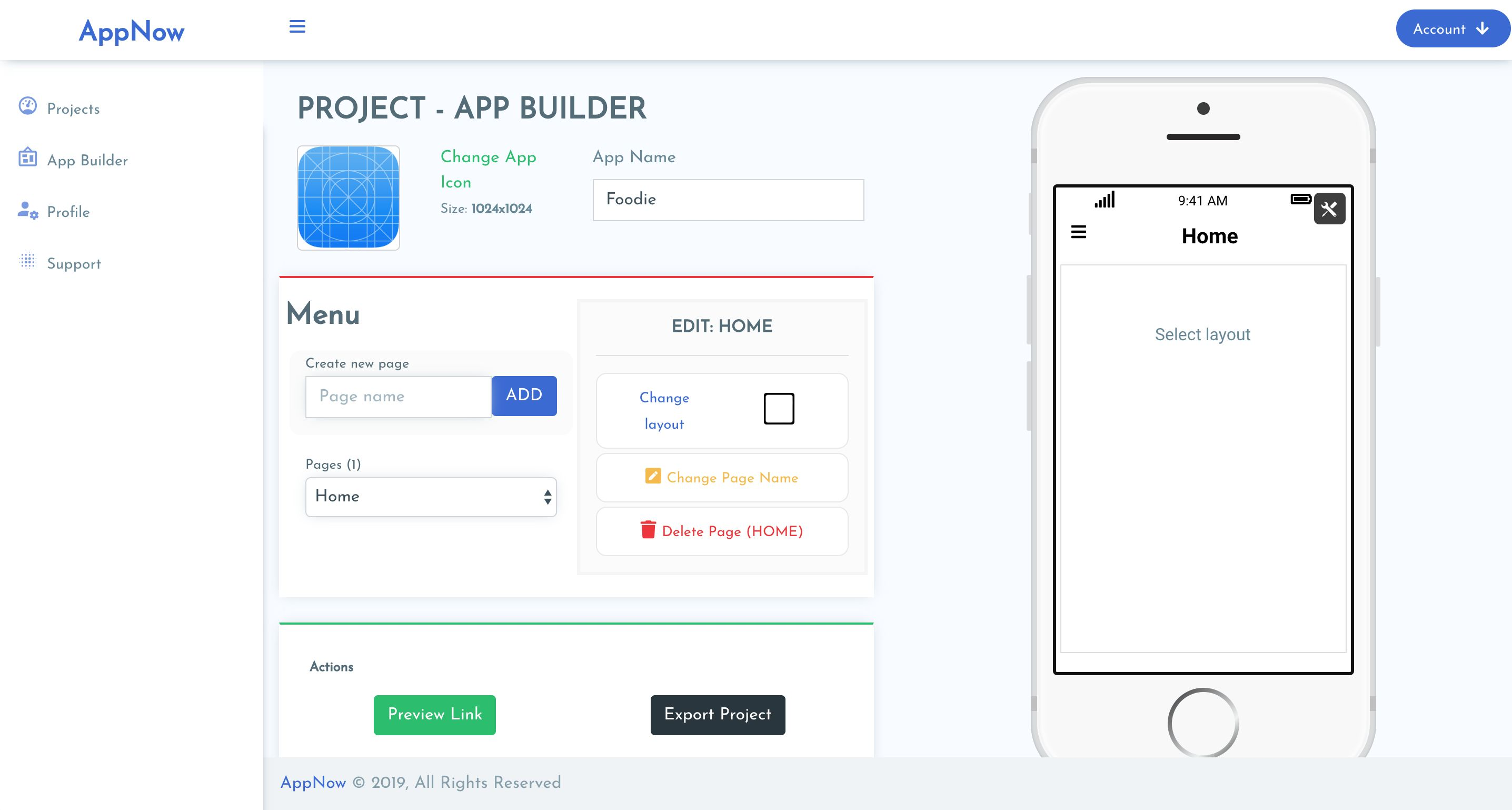 AppNow - App Builder iOS Mobile Projects Laravel Screenshot 2