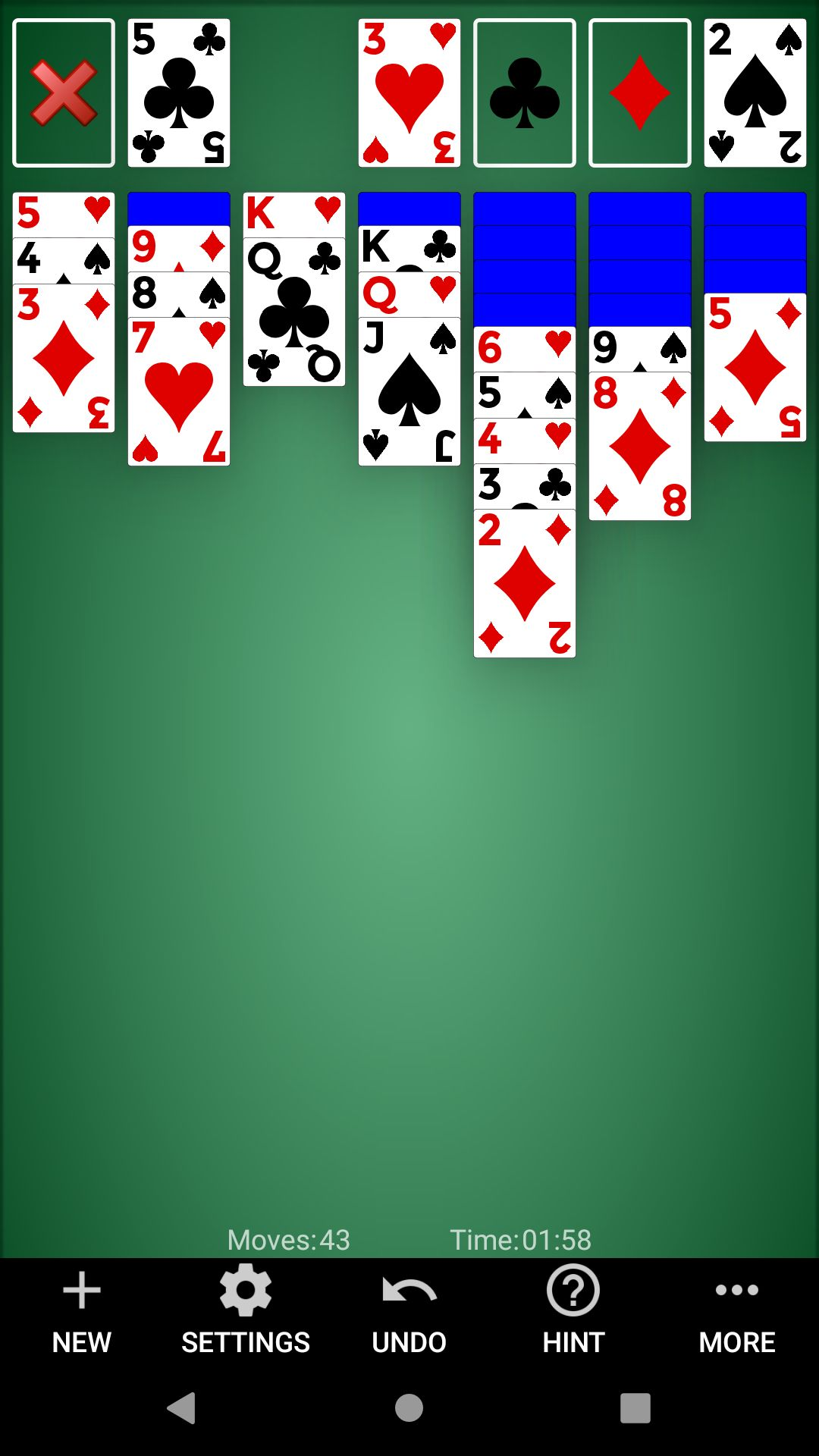 Classic Solitaire - Android Source Code Screenshot 3