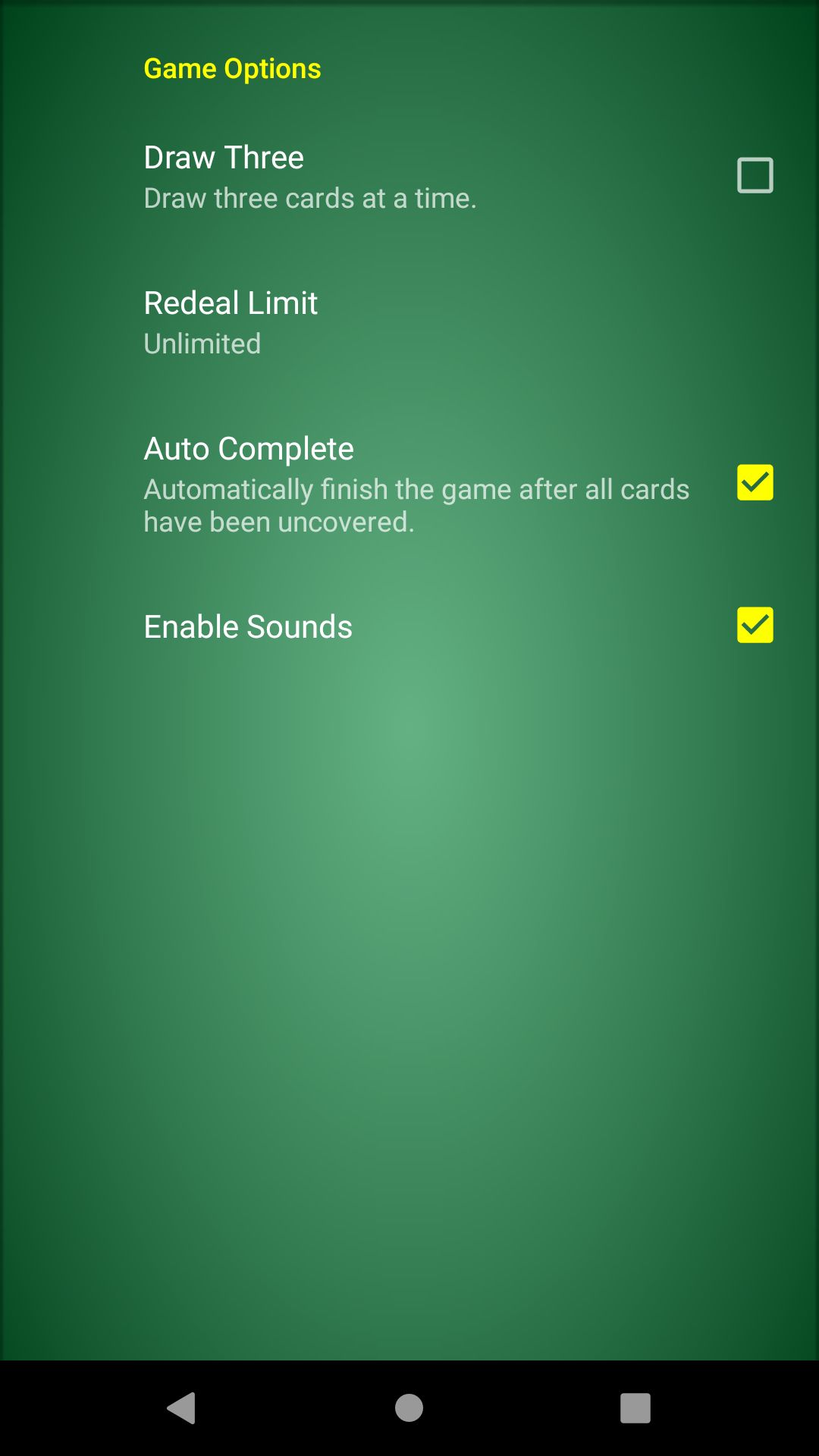 Classic Solitaire - Android Source Code Screenshot 4