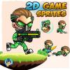 Green Cyborg 2D Game Sprites